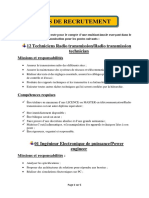 Avis de recrutement en telecommunication