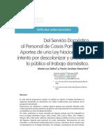 Dahul, María Luz y Meschini, Paula - Del Servicio doméstico al Personal de casas particulares