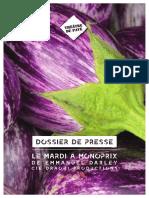 Théâtre - LE MARDI A MONOPRIX - Dossier De Presse