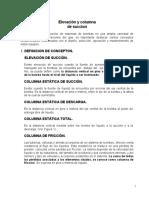 ELEVACION Y COLUMNAS DE SUCCION