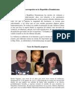 Violencia y corrupción en la Republica Dominicana