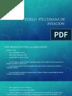 Vuelo  972 cubana de aviación