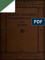 Ioannes Philoponus_De Aeternitate Mundi Contra Proclum (Rabe, BT)