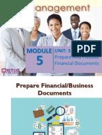Prepare and Process Financial Docs