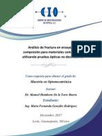 Analisis de Fractura en Ensayos de Compresion Para Materiales Compuestos
