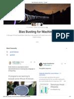 Bias Busting for Machines - Google+