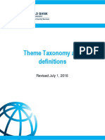 World Bank Theme Taxonomy and definitions (Revised July 1, 2016)