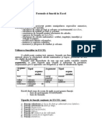 Formule Si Functii in Excel