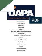 portafolio de Psicologia Comunitaria.