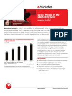 eMarketer Social Media in the Marketing Mix-Budgeting for 2011