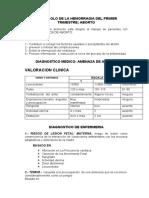 PROTOCOLO DE ATENCION EN HEMORRAGIA