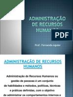 AULA 2 - ADMINISTRAÇÃO DE RH