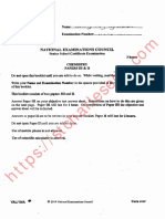 National Examination Council NECO Chemistry Past Questions
