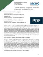 Vibração gerada na cravação de estacas Comparação de metodos de previsão através da metodologia PRISMA