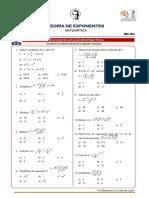Teoría de Exponentes i