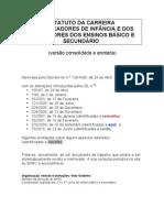 ECD (Estatuto da Carrera Docente) Consolidado e Anotado de 2010