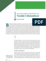 Osmanlı Kadının Eğitimine Yönelik İlk Süreli Yayın -Terakki-i Muhadderat