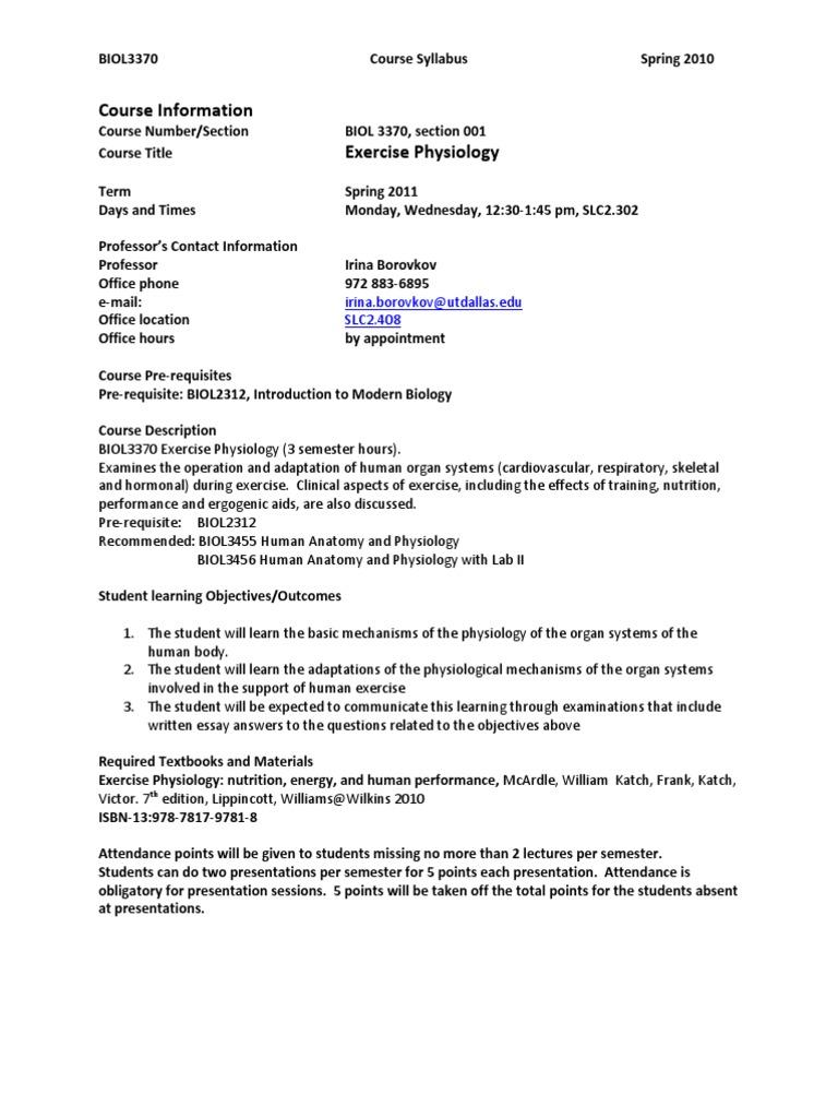 UT Dallas Syllabus for biol3370.001.11s taught by Irina Borovkov ...