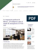 La suspensión perfecta de labores - CUARENTENA.pdf