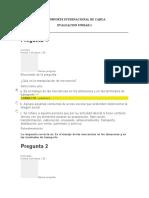 TRANSPORTE INTERNACIONAL DE CARGA