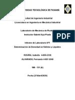 Informe #2 de Laboratorio de Fluidos FA IR
