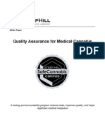 Quality Assurance for Medical Cannabis