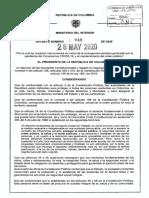 Decreto 749 Del 28 de Mayo de 2020