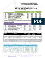 Lista Precios MEGIA Enero 2018 - bioinsumos