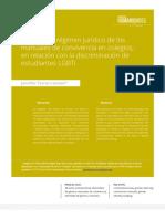 Análisis del régimen jurídico de los manuales de convivencia en colegios, en relación con la discriminación de estudiantes LGBTI1 UPN