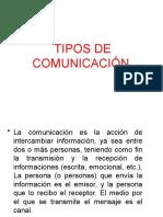 1.4 Tipos de Comunicación