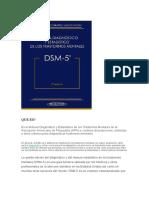 Importancia Dsm 5 y Cie 10