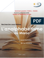 L'Analphabétisme Au Maroc