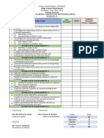LIST OF LEARNING TARGETS AND MONITORING SHEET