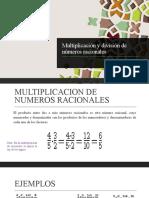 multiplicacion de racionales