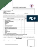 DECLARACION JURADA DE SALUD