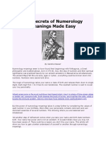 The Secrets of Numerology Meanings Made Easy