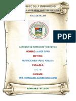 CICLO ECONOMICO DE LA ENFREMEDAD- NUTRICION EN SALUD PUBLICA