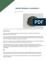 Como fabricar material ultraduro e resistente à radioatividade