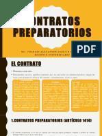 Contratos Preparatorios en El Perú. Mg. Charles Alexander Sablich Huamani