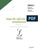 03  Hoja de calculo en la enseñanza. Aplicaciones docentes
