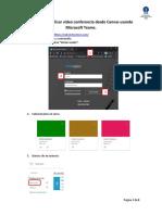 Canvas Microsoft Teams  Manual Docentes