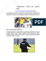 Entrenador Deportivo - Qué es, perfil, funciones y más