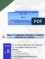 TEMA 8 - EL SUSBSISTEMA FINANCIERO I
