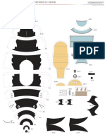 Shark Submarine papercraft