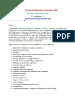 International Journal of Biomedical Engineering (IJBB)