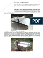 Solar Conduction Dryer - A Boon to Indian Farmers