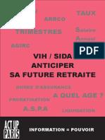 Brochure VIH/Sida Anticiper sa future retraite