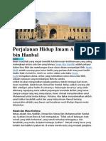 Perjalanan Hidup Imam Ahmad bin Hanbal