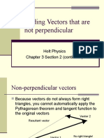 Addition of Non Perpendicular Vectors