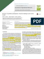 60 Years of portfolio optimization